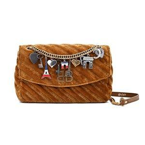Balenciaga BB Chain M Charm Velvet Shoulder Bag
